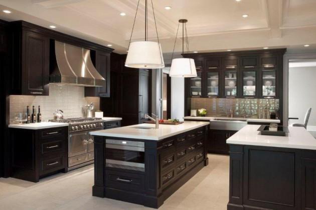 16 Dramatic Dark Kitchen Design Ideas