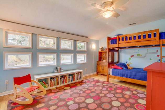 17 Vibrant Mid Century Modern Kids Room Interior Designs