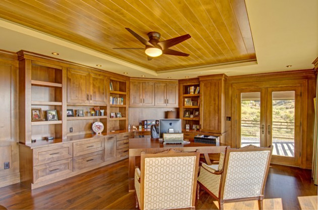 17 Inspiring Rustic Home Office Amp Study Designs That Will