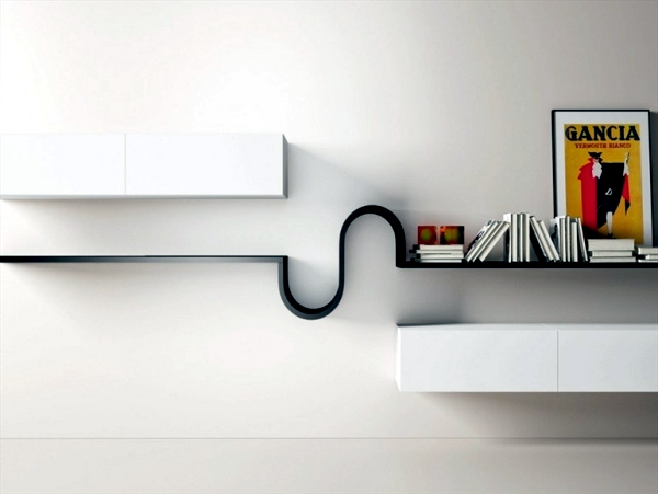 15 Fabulous Minimalist Shelves For Your Living Room In