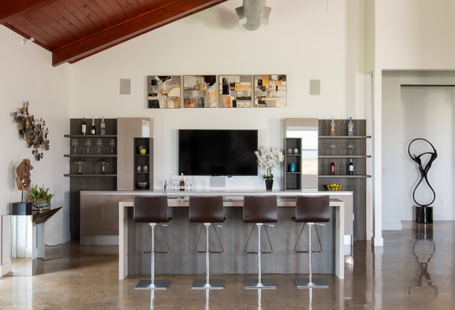 17 Extravagant Contemporary Home Bar Designs That Are