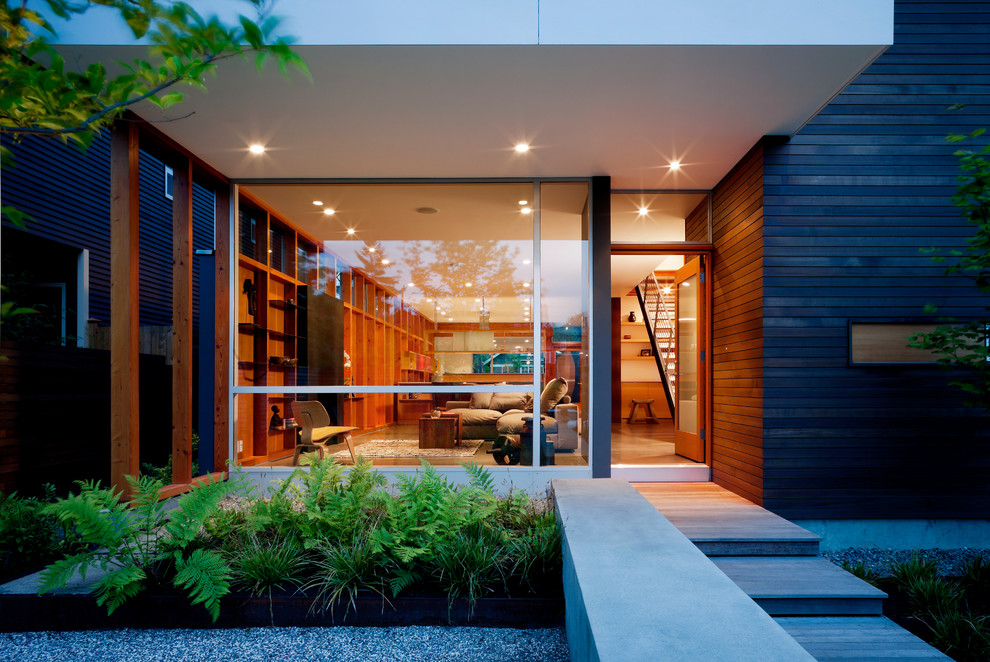 16 Enchanting Modern Entrance Designs That Boost The
