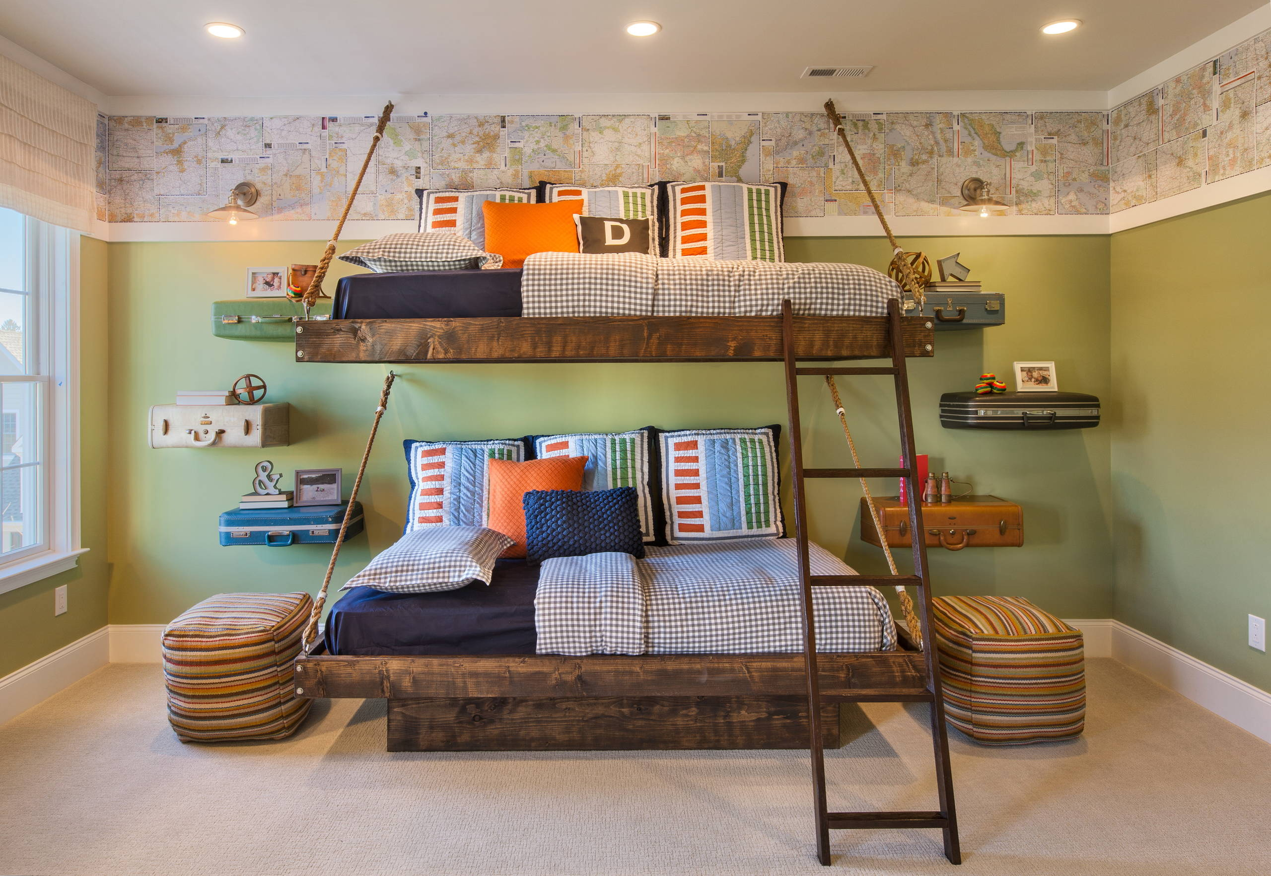 15 Charming Rustic Kids Room Designs That Strike With