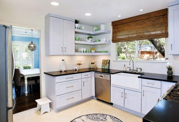 20 Super Functional Corner Kitchen Designs Suitable For