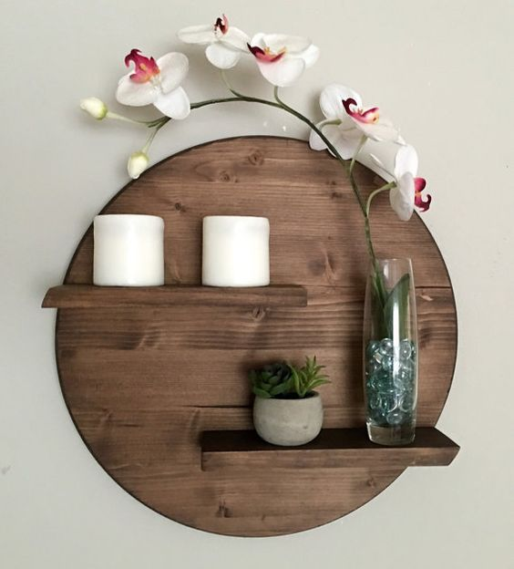 https www architectureartdesigns com 17 remarkable diy round shelf designs to adorn your empty walls