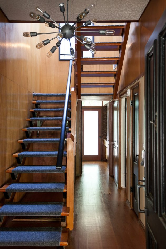 15 Outstanding Mid Century Modern Staircase Designs