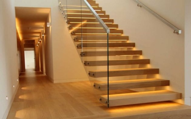 10 Fascinating Wood Glass Staircase Designs For Elegant Home   Wood And Glass Staircase   New   Spiral   Stair Railing   Design   Stair Case