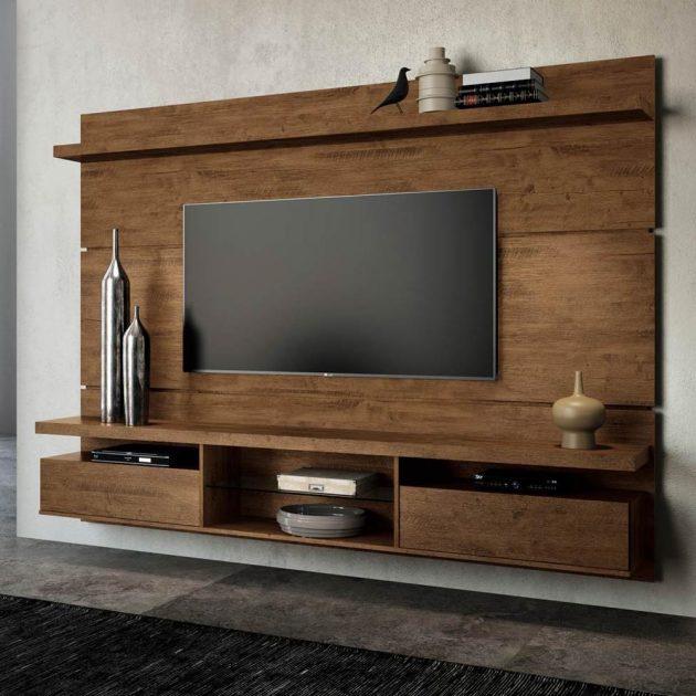 17 Outstanding Ideas For TV Shelves To Design More