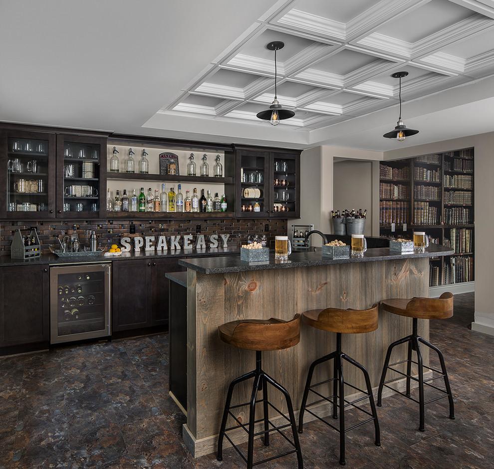 16 Elegant Rustic Home Bar Designs That Will Customize