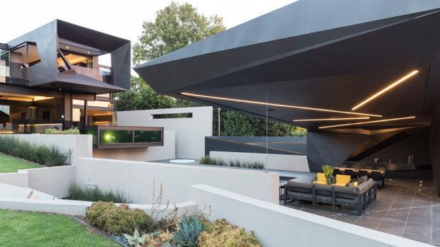 Outdoor living space in one of the best houses in the world
