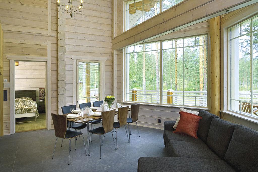 Aménagement intérieur d'une maison en bois accueillante Caroline Barrès et Thierry Coquet Architectes / Erick Saillet