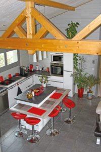 aménagement intérieur d'une maison bois familial