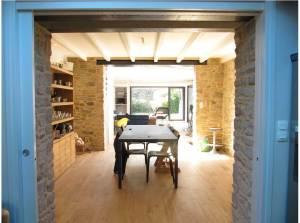 aménagement intérieur d'une maison bois classique à Vannes