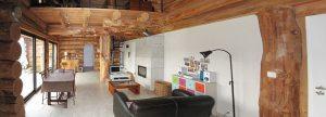 aménagement intérieur d'une maison bois massif classique conçu par Jérome Largeau
