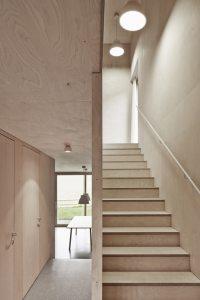 aménagement intérieur d'une maison bois moderne avec vue magnifique