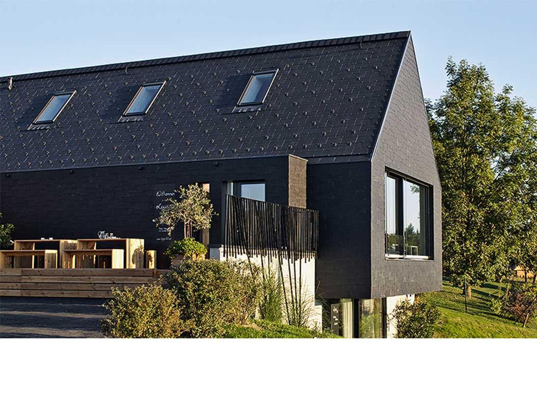 bardage en bois d'une maison classique