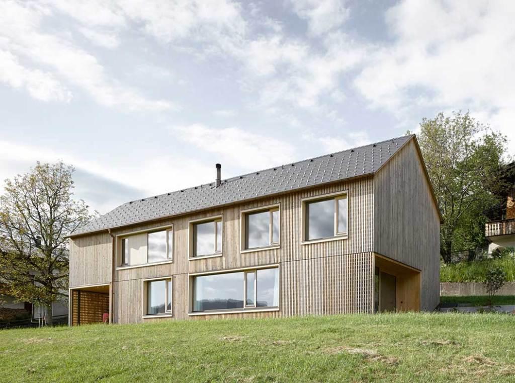 maison bois familial en Autriche