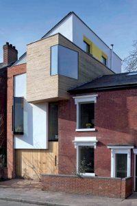 extension en bois d'une maison familial