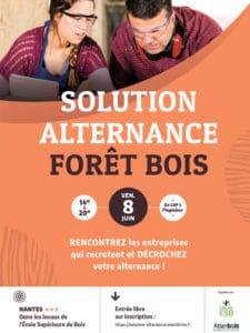 © Affiche forum Solution alternance Forêt Bois métiers du bois