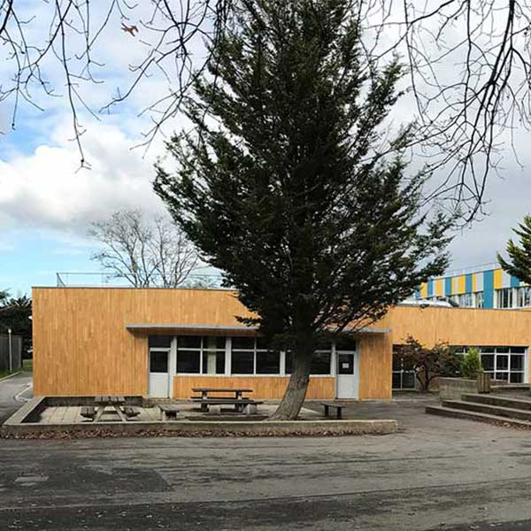 Le collège la Reinetière rénové avec une ossature bois© ATHENA Architecte/ Conseil Départemental 44