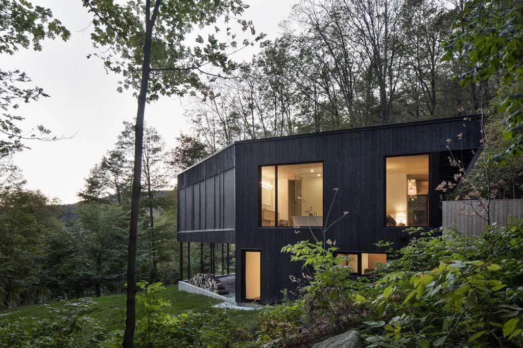 Maison bois cœur nature