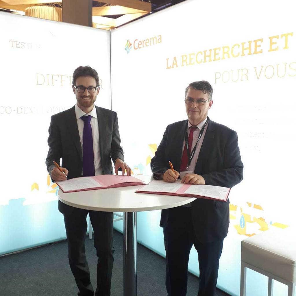 Yannick Prebay, directeur du Cerema et Philippe Estingoy directeur général de l'AQC