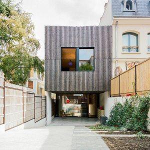 extension en bois d'une maison bois familiale