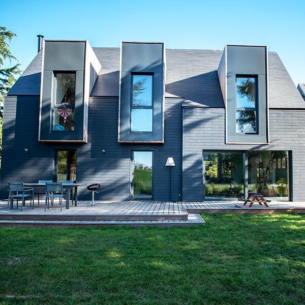 Maison bois avec extension en Red Cedar - Quinze Architecture