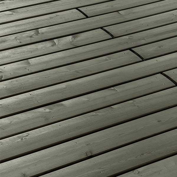 Les profilés X-TRA Apexline 10 – Teinte Teck et gris argent © Mocopinus