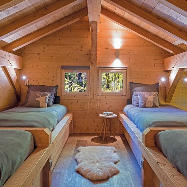 chambre confortable pour quatre personnes