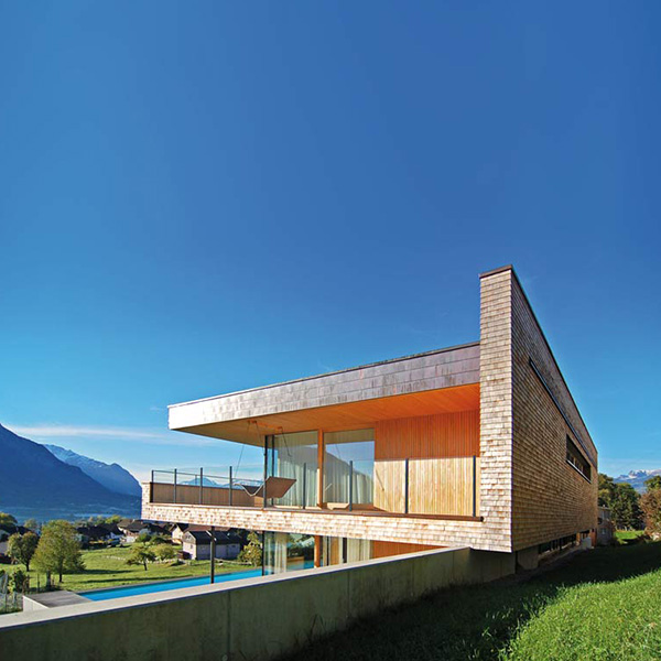 Maison bois sur la colline - k_m Architektur
