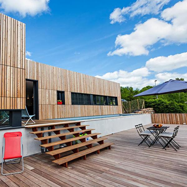 maison en ossature bois originale dans l'Aveyron