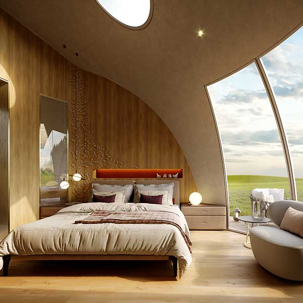 cocon de luxe en bois pour une extension