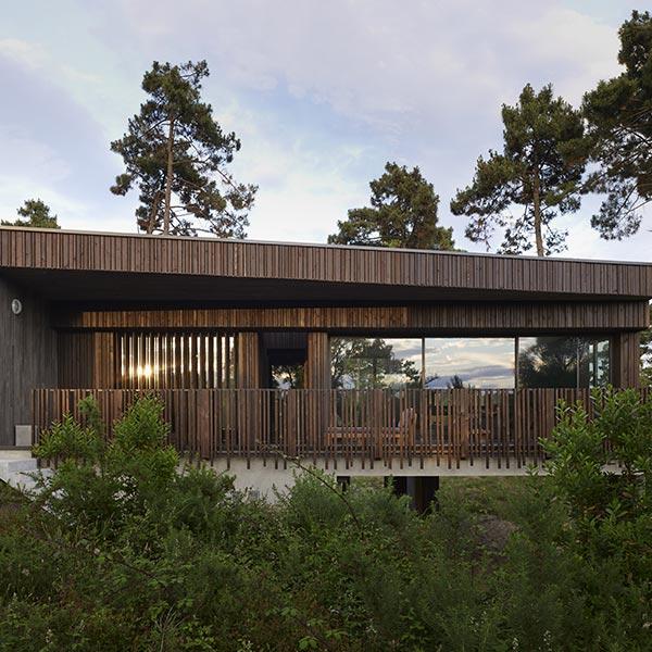 maison bois caméléon dans les Landes