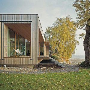 maison bois à la nature vers lac du constance