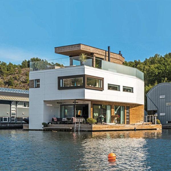 villa en bois flottante