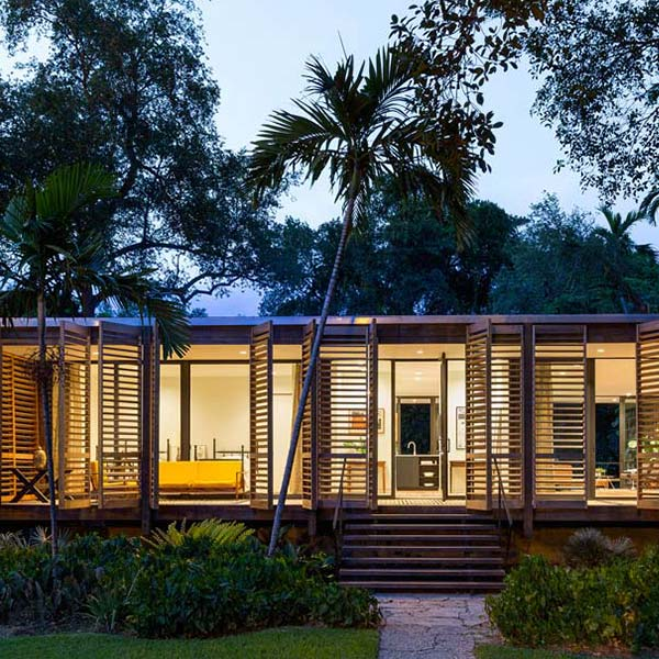 Maison en verre et bois Floride - Jacob Brillhart
