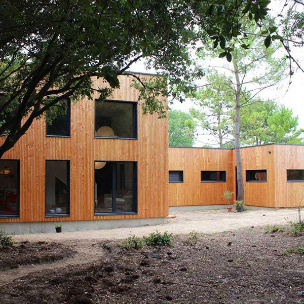 maison de famille en ossature bois en Vendée