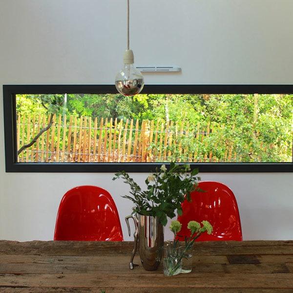 aménagement intérieur d'une maison en bois en Pays de la Loire