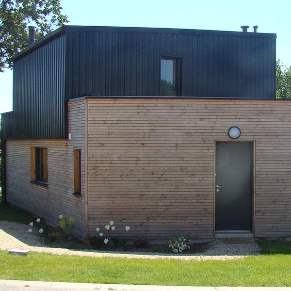 Maison bioclimatique en ossature bois - Maison Bois Serru
