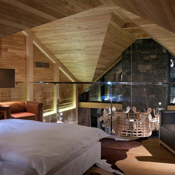 Un chalet spa moderne à l'atmosphère relaxante