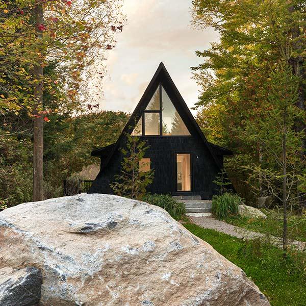 Chalet bois minimaliste - Jean Verville Architecte