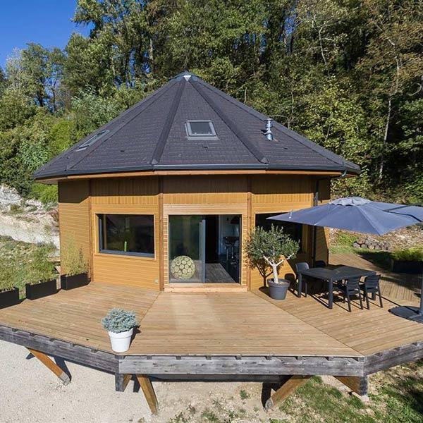 maison en bois ronde chaleuse