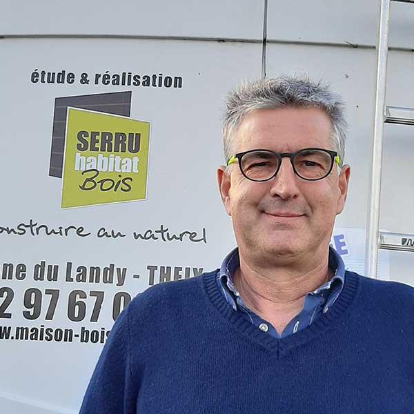 Olivier Jooris, gérant de Serru Habitat Bois