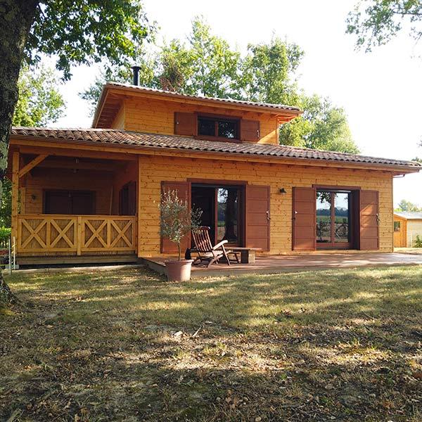 Maison bois massif empilé - Alaya Maisons Bois