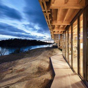 maison à ossature bois lamellé-collé en Norvège
