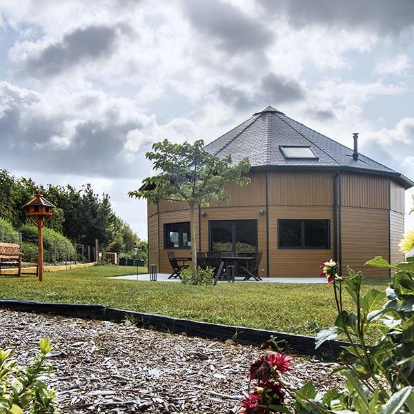 Maison ossature bois 14 pans - La Maison de Cèdre