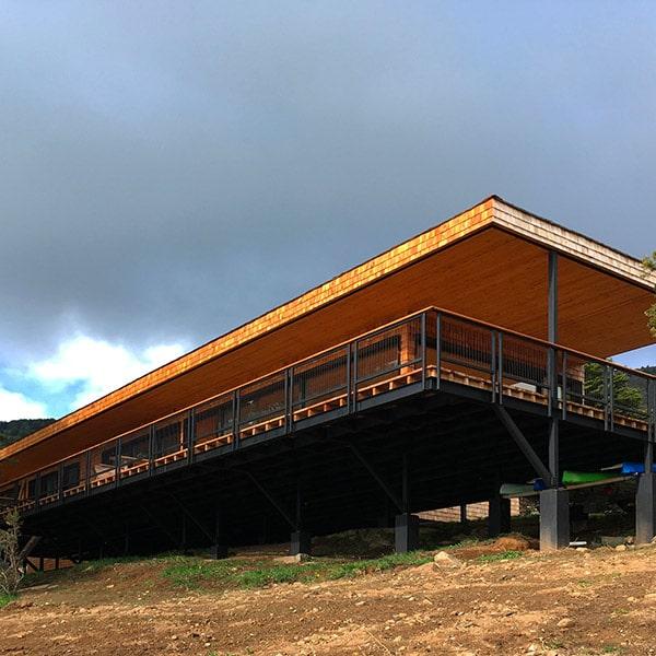 Double maison en ossature bois avec vue magnifique