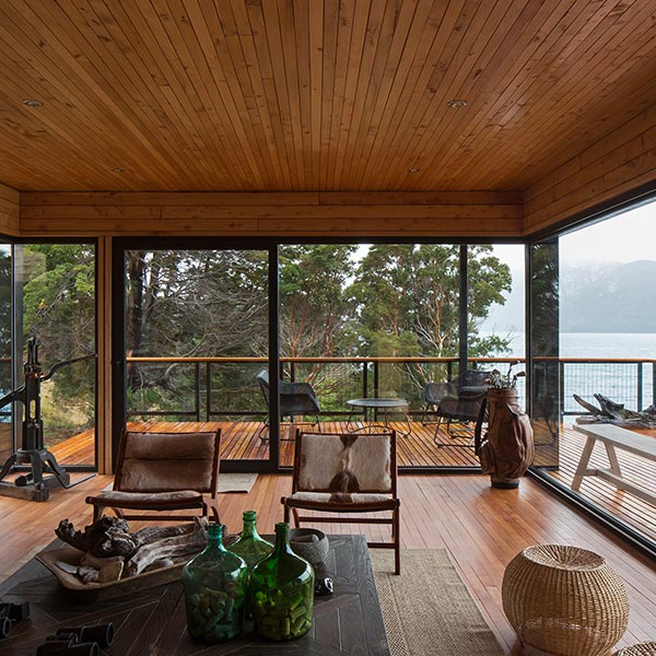maison bois en Patagonie chilienne