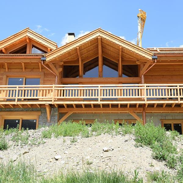 maison en type chalet bois de 206m² - chalets lombard vasina